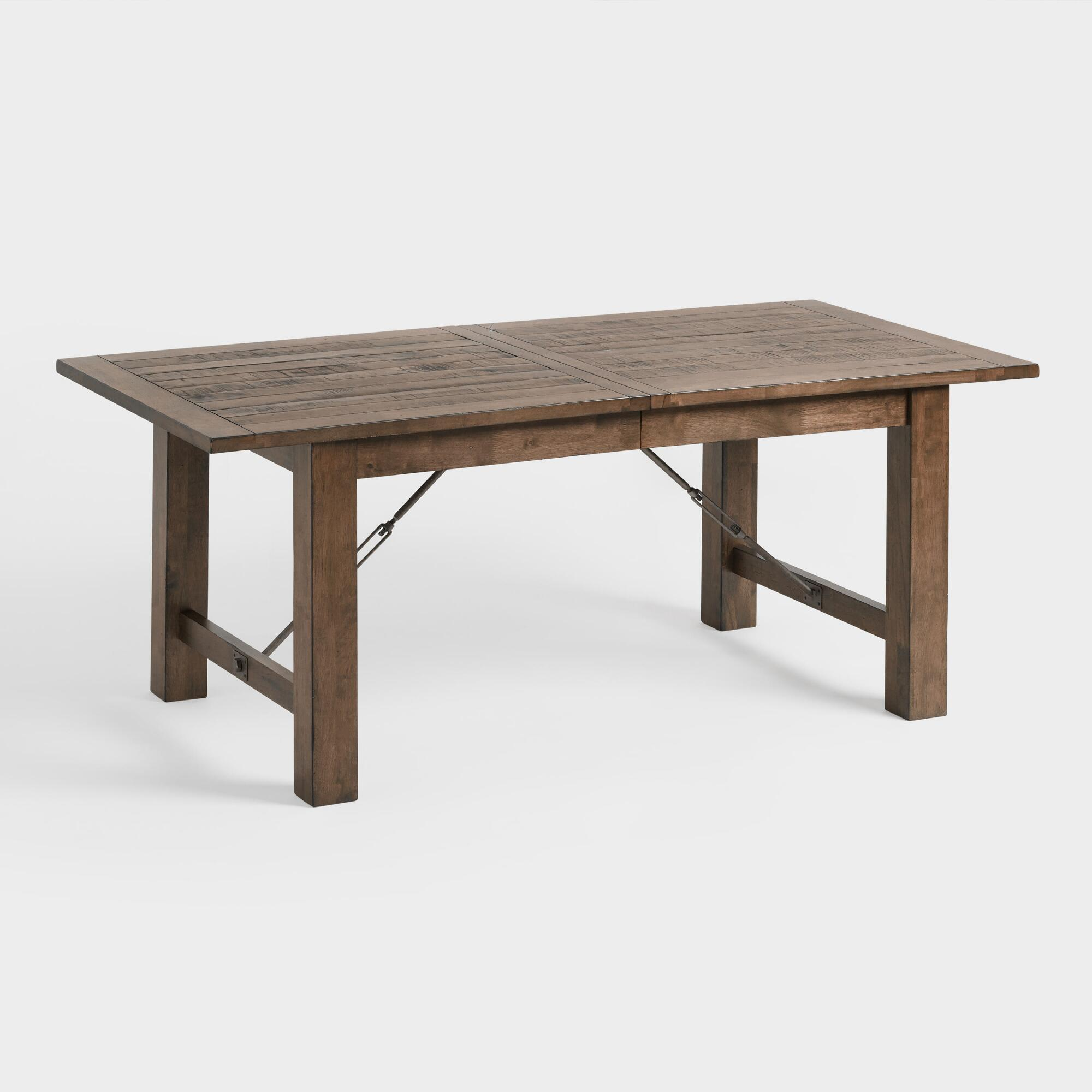 Dining Room Tables Rustic Wood Farmhouse Style World Market - Outdoor wood rectangular dining table
