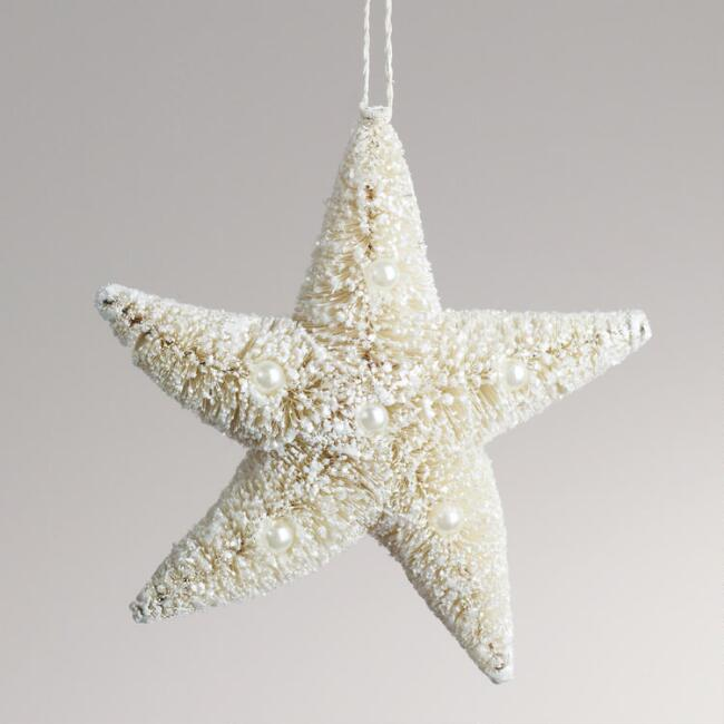 Natural Bottlebrush Star Ornament