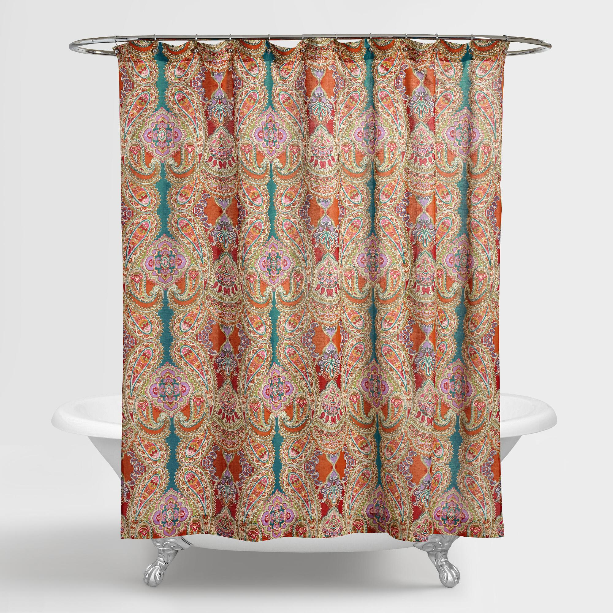 Crochet shower curtains - Paisley Venice Shower Curtain