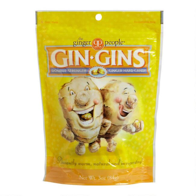 Gin Gins Double Strength Ginger Hard Candy, Set of 6