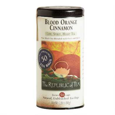 The Republic Of Tea Blood Orange Cinnamon Black Tea 50 Count