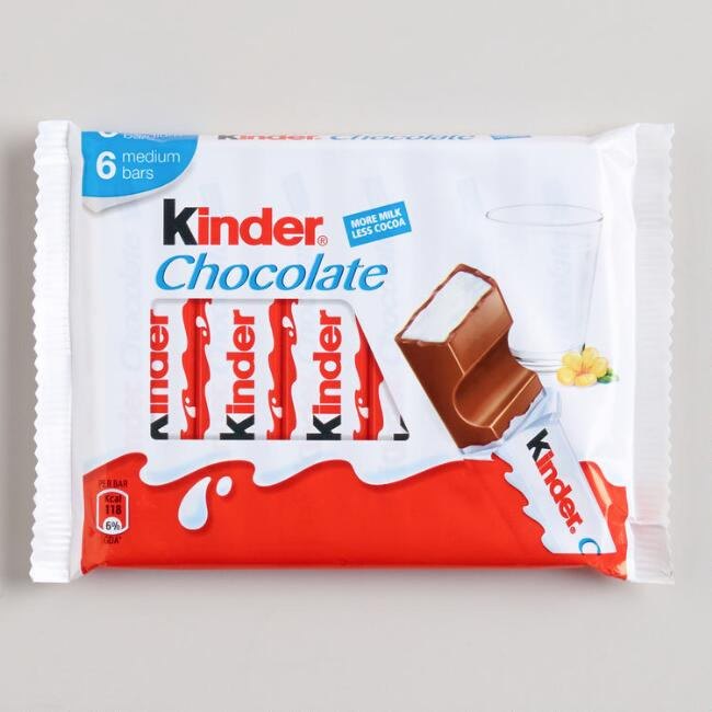 Kinder Chocolate Snack Bars 6-Pack