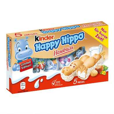 5 Pack Kinder Happy Hippo Milk Hazelnut Biscuits Set of 5
