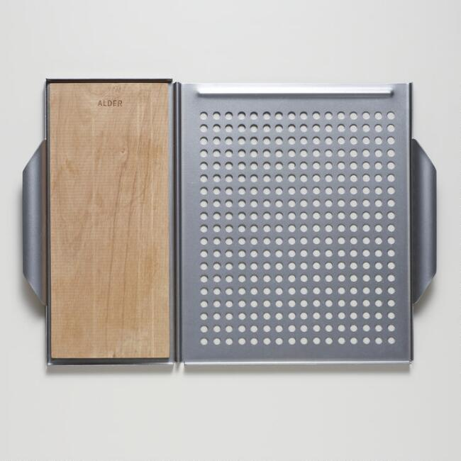 Dual Grill Grid and Plank Holder