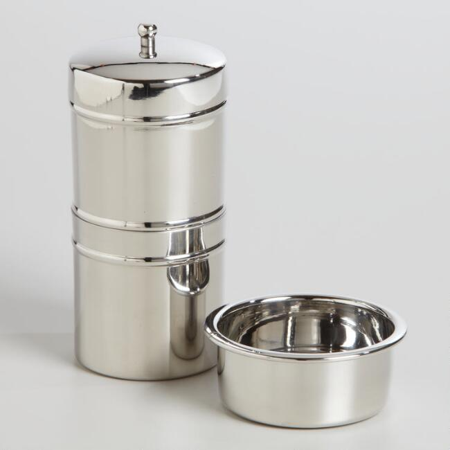 Stainless Steel Indian Coffee Cup And Filter Set