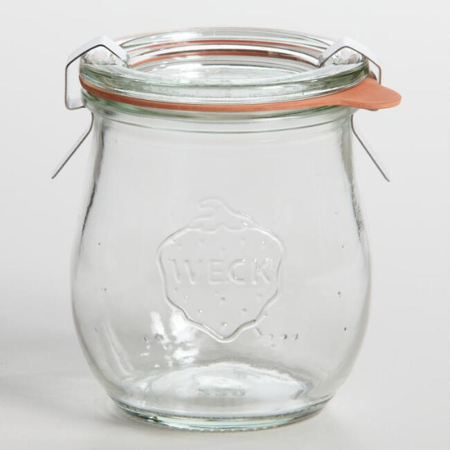 Extra Small Glass Weck Tulip Jar