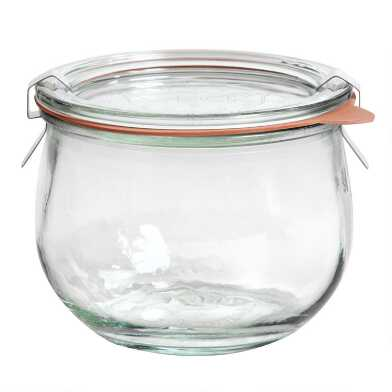 Small Glass Weck Tulip Jar