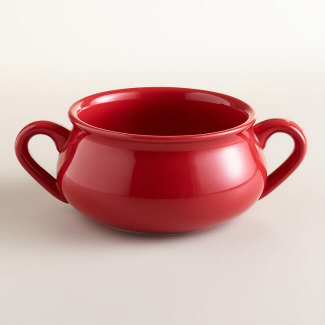 Cherry Double-Handled Soup Crock, Set of 4