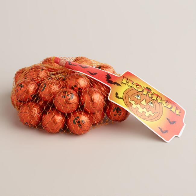 Laica Mesh Bag of Milk Chocolate Pumpkins
