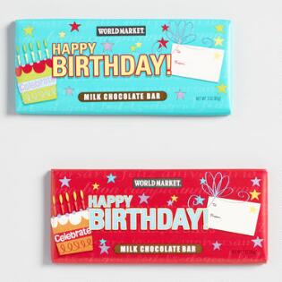 World MarketR Milk Chocolate Birthday Bar Set Of 2