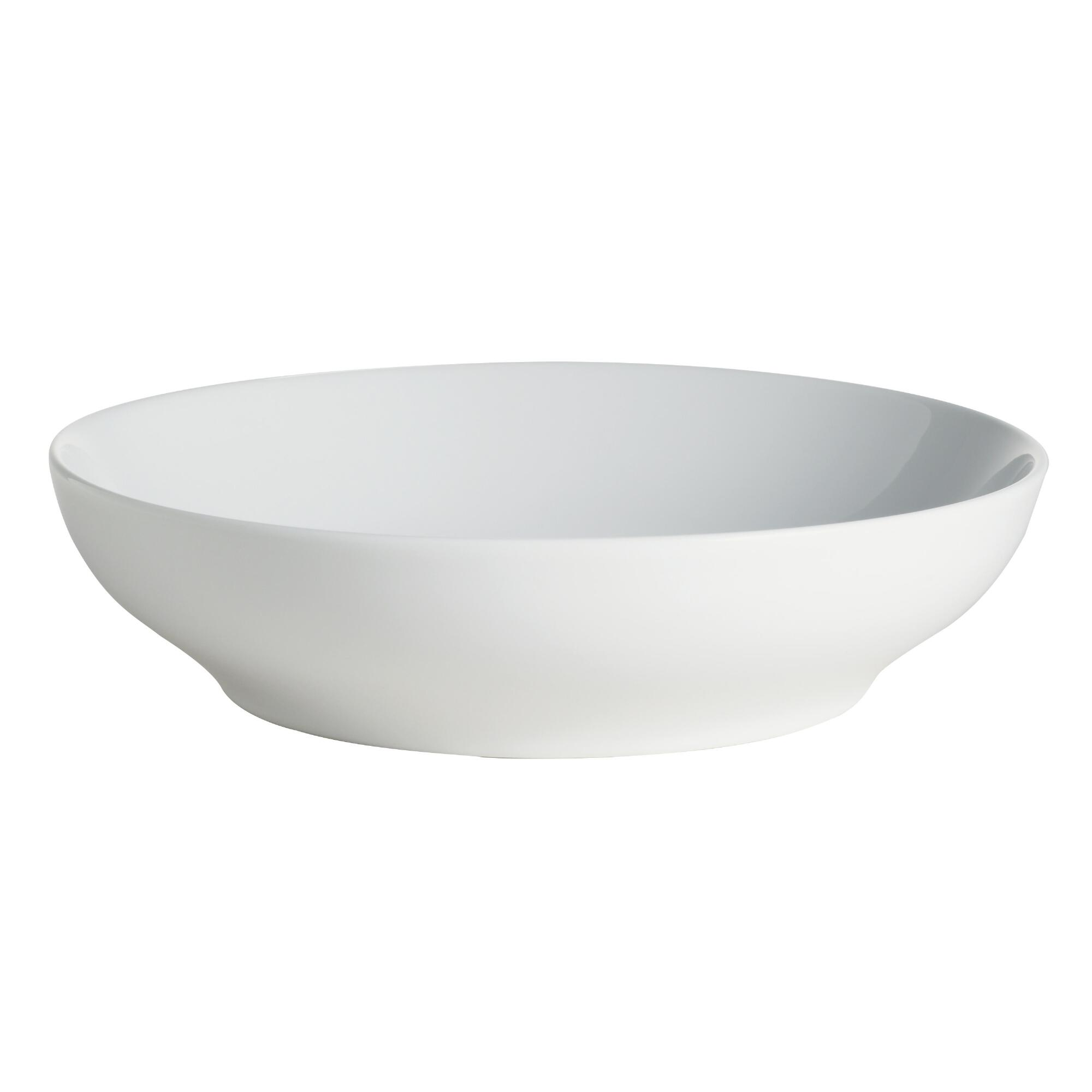 White Spin Pasta Bowl Set of 4 - Porcelain by World Market