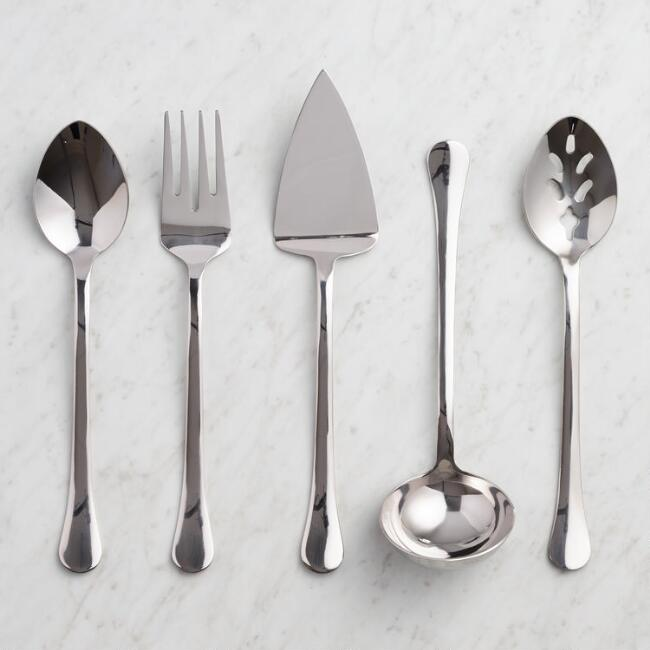 Stainless Steel Buffet Serving Utensil Collection