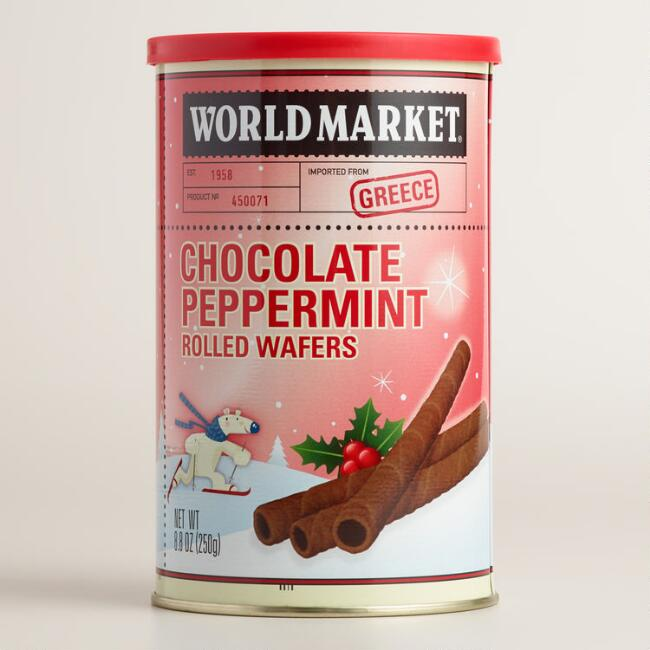 World Market® Chocolate Peppermint Rolled Wafers