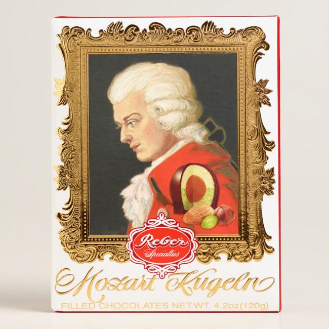 Reber Mozart Portrait Box Chocolates, 6-Piece