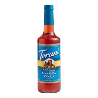 Torani Sugar Free Cinnamon Vanilla Syrup Set of 12