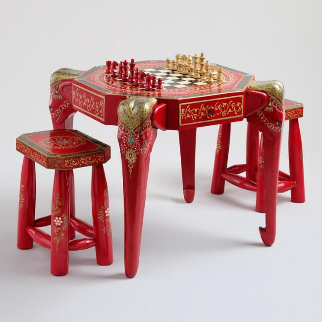 Red Anchita Elephant Game Table Collection