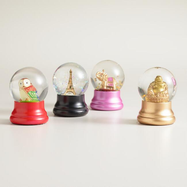 Mini Assorted Water Globes Set of 4