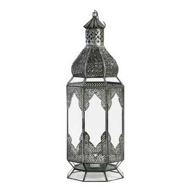 Extra Large Antiqued Zinc Latika Lantern