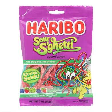 Haribo Sour Spaghetti Gummy Candy Set Of 12