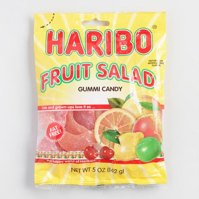 Haribo Fruit Salad Gummi Candy, Set of 12