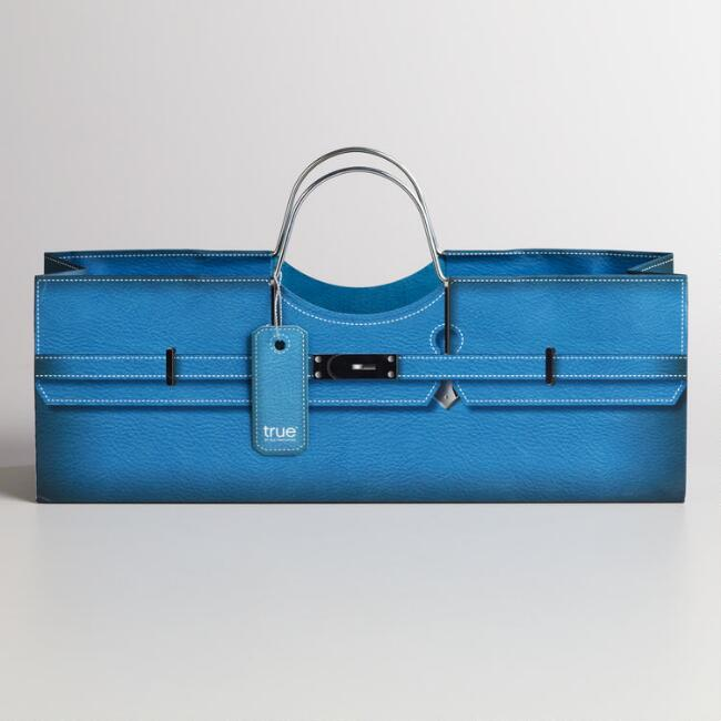 Blue Purse Wine Bag