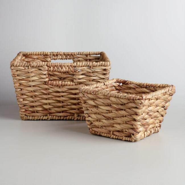 Natural Water Hyacinth Betty Baskets