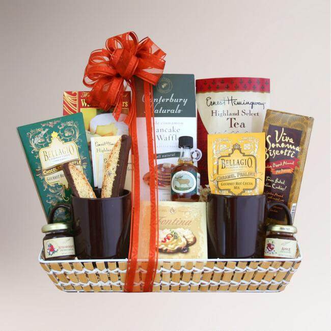 Breakfast in Bed Gift Basket