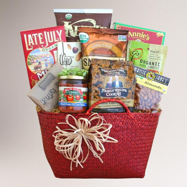 Organically Delicious Wishes Gift Basket