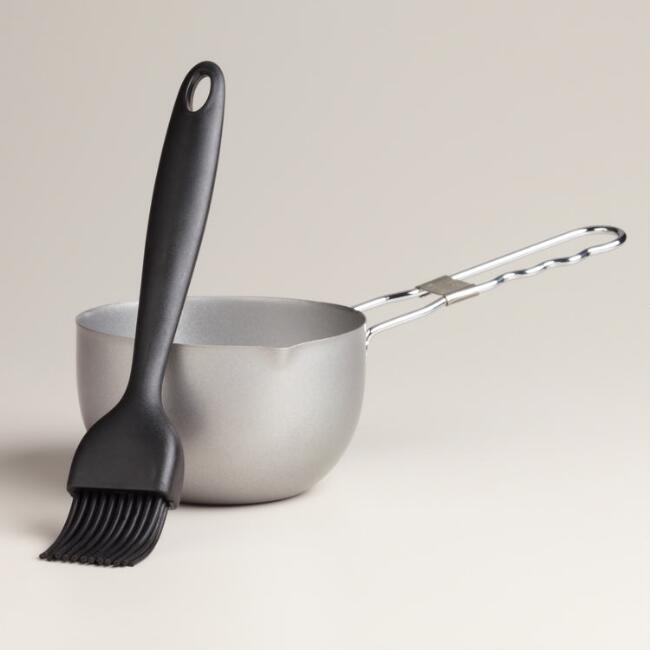 Barbecue Basting Brush and Flavoring Pot