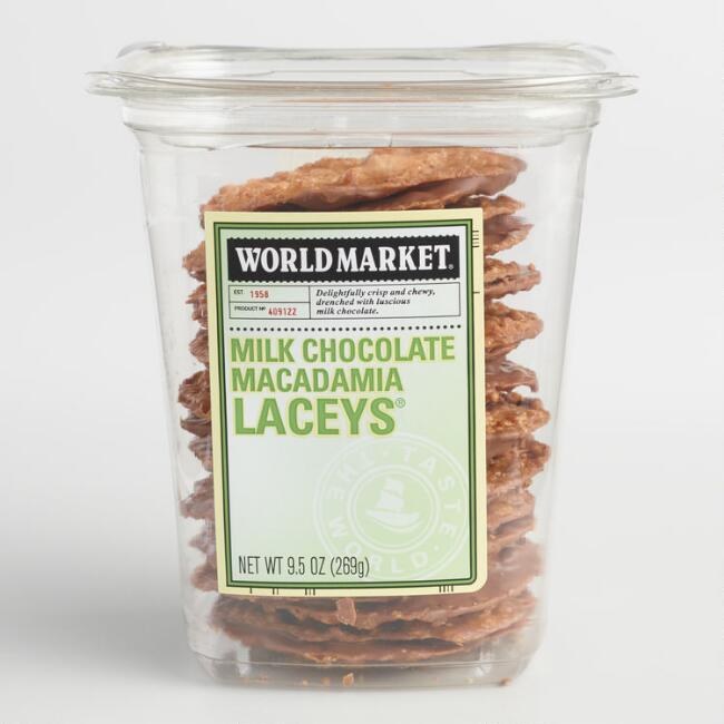 World Market® Milk Chocolate Macadamia Nut Laceys