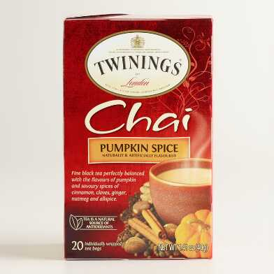 Twinings Pumpkin Spice Chai Tea 20 Count