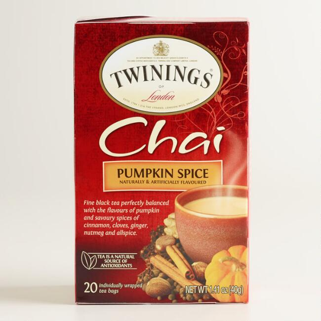 Twinings Pumpkin Spice Chai, 20-Count