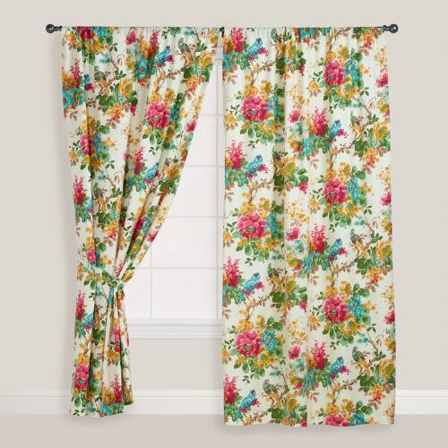 Parrot Ornithology Curtain