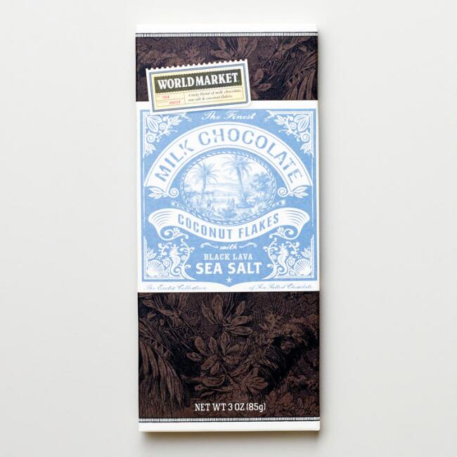 World Market® Sea Salt and Coconut Milk Chocolate Bar
