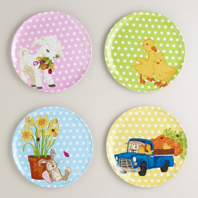 Easter Plates, Set of 4