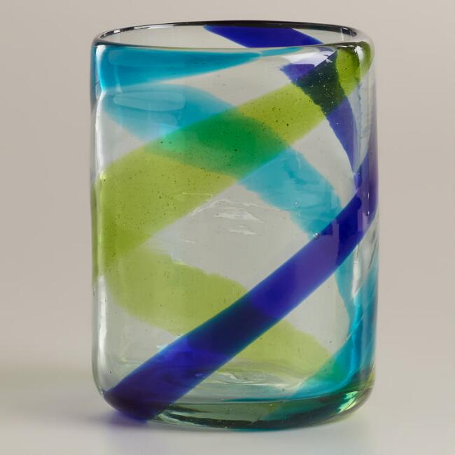Cool-Toned Swirl DOF Glasses, Set of 2