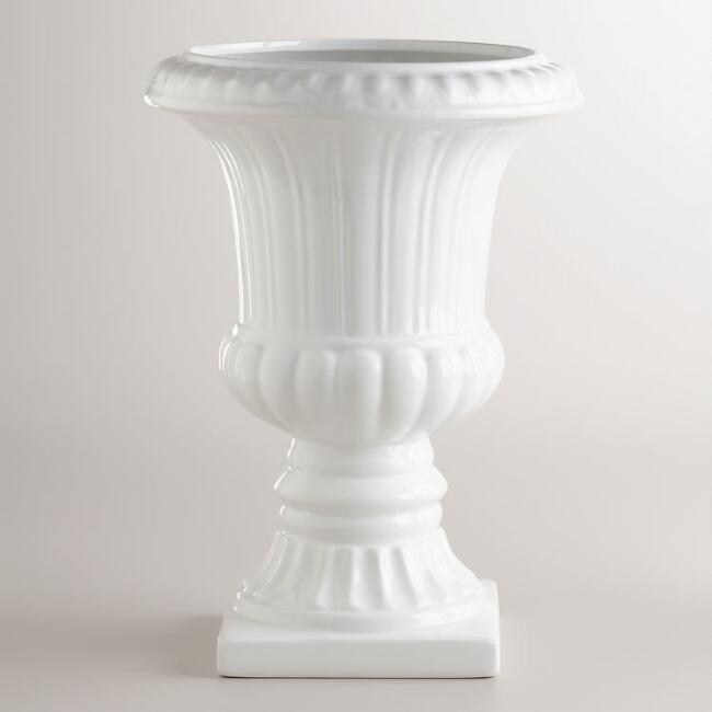 Large White Urn Vase World Market