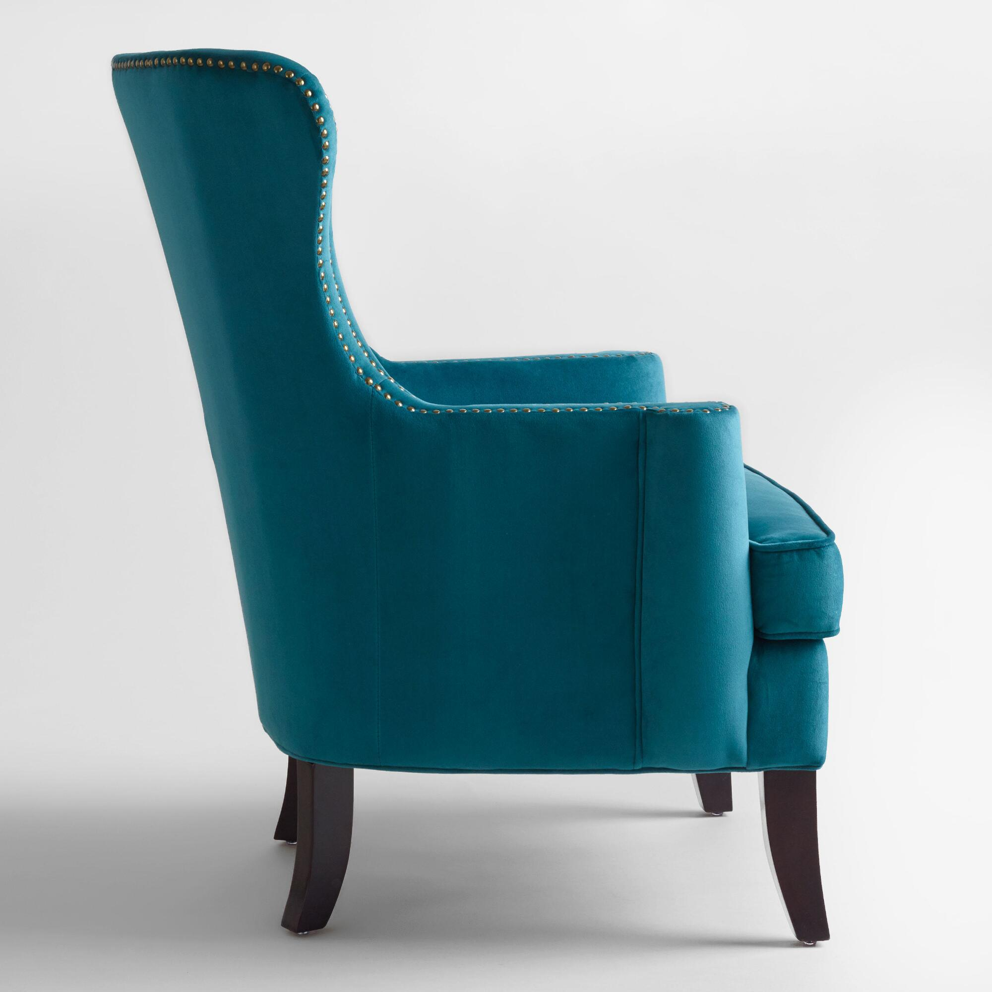 Teal wingback chair - Teal Wingback Chair 1
