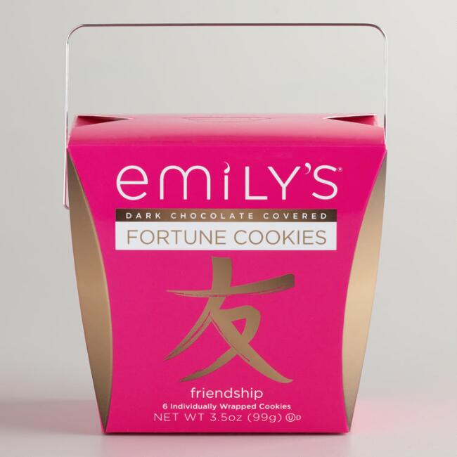 Emily's Dark Chocolate Covered Fortune Cookies, 6-Count
