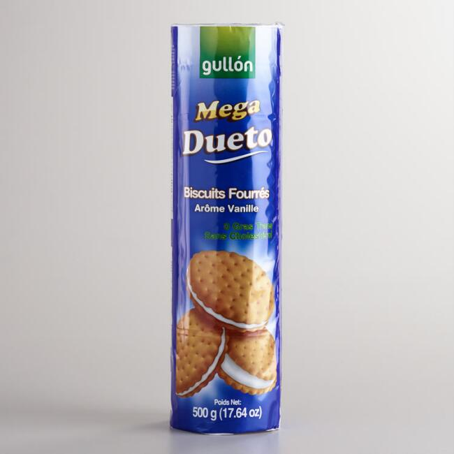 Gullon Mega Duo Vanilla Cream Sandwich Cookies