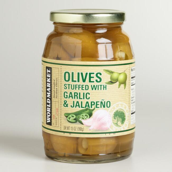 World Market® Jalapeno Garlic Stuffed Olives