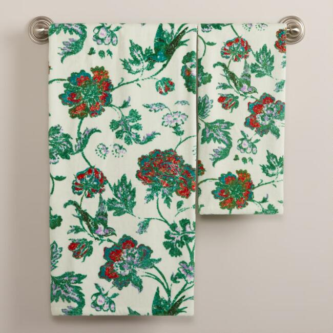 Indochine Floral Bath Towel Collection