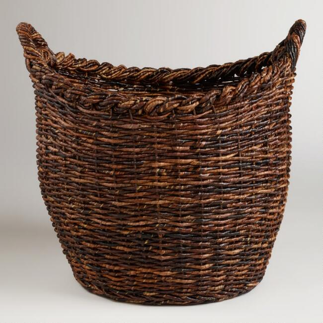 Oversized Madras Avery Basket