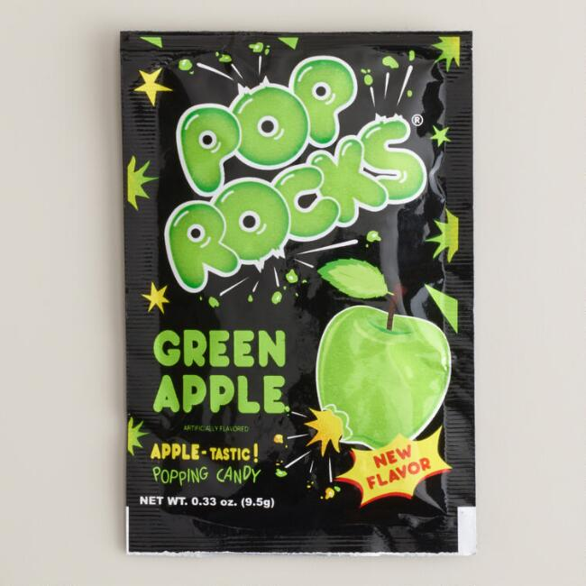 Green Apple Pop Rocks, Set of 12