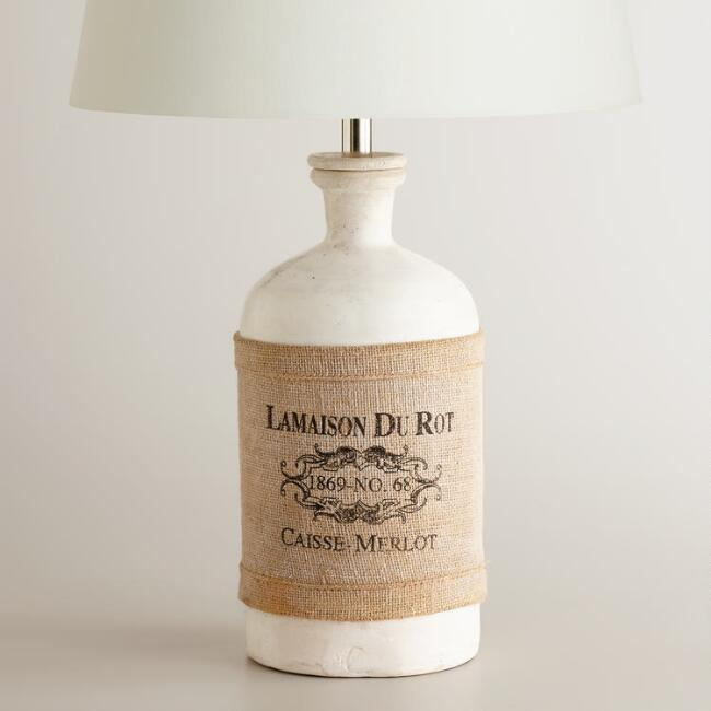 White French Jug Table Lamp Base