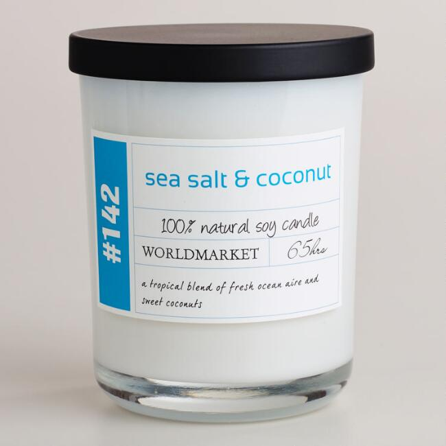 Sea Salt and Coconut Soy Filled Jar Candle