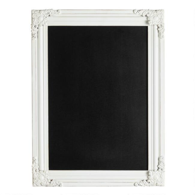 Whitewashed Ornate Georgina Chalkboard