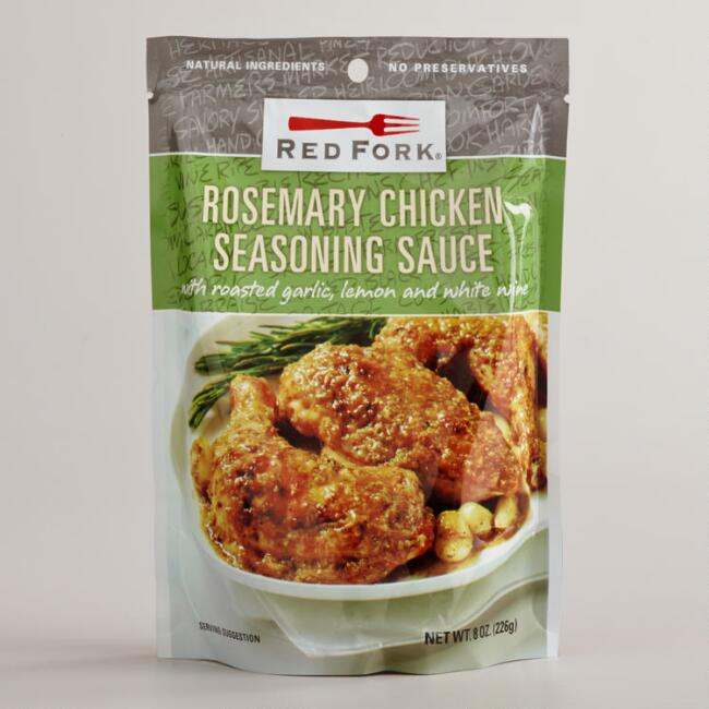 Red Fork Rosemary Chicken Seasoning Sauce, Set of 6