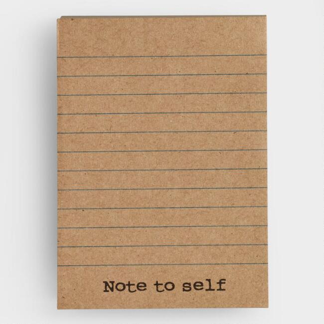 Note To Self Kraft Paper Sticky Notes
