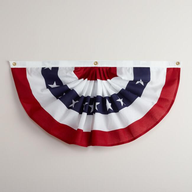 Americana Bunting Flags, Set of 2